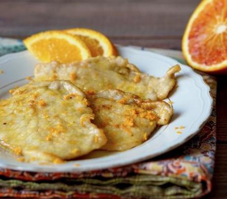 menu delle feste scaloppine-all'arancia